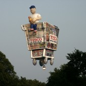 Tesco trolley balloon
