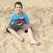 Brayden in the sand