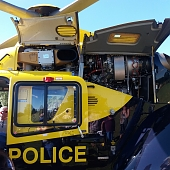 Police helicopter engine