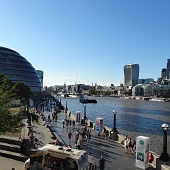 A view from Tower Bridge