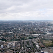 South London from a helicopter