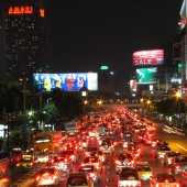 Bangkok Traffic Jam From Behind